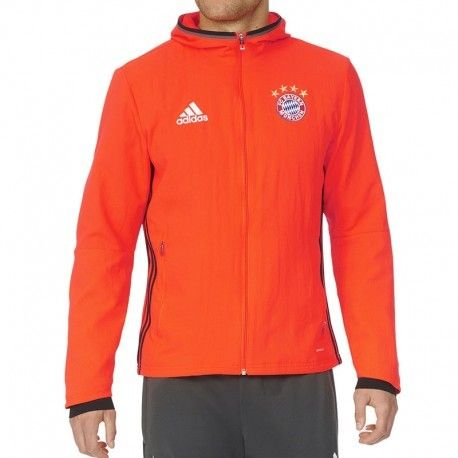 Orange À Capuche Adidas Football Bayern Munich Veste Originals De TZ7xwRBq