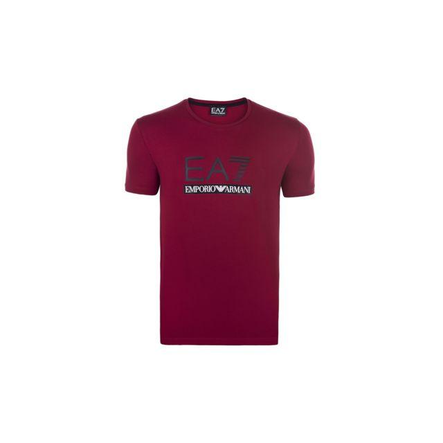 3b59fcce63a89 Armani - Emporio Ea7 - T-shirt homme bordeaux - pas cher Achat ...