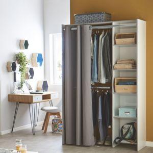 alin a store kit d 39 am nagement de placard avec rideau l123cm pas cher achat vente armoire. Black Bedroom Furniture Sets. Home Design Ideas