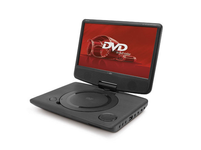 """Lecteur DVD portable avec 10 """"écran et batterie intégrée"""
