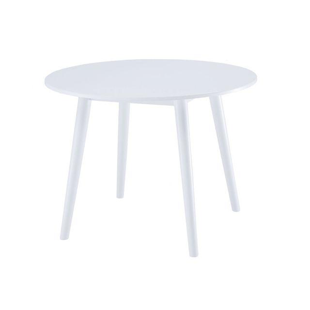 Les Essentiels By Dlm Table à manger en bois ronde Longueur 100 cm Hemma