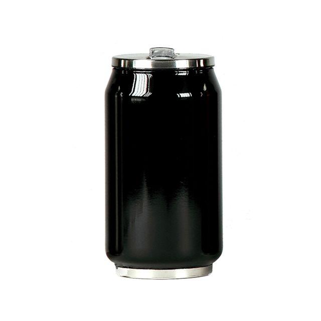 YOKO DESIGN Mug canette isotherme inox 280 ml - Noir