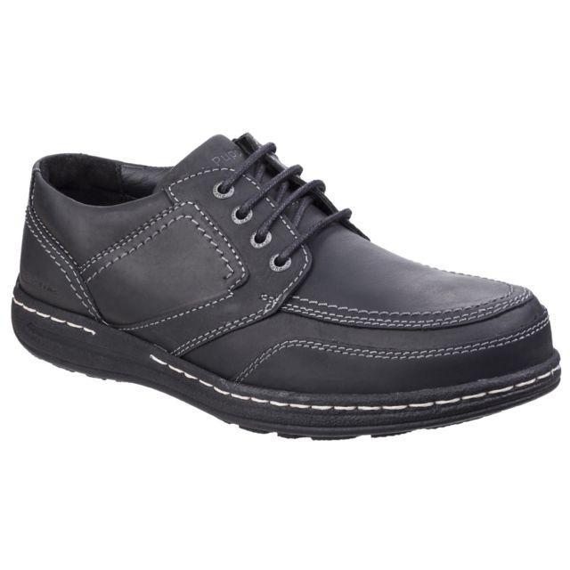 Hush Puppies Chaussures à lacets Volley Victory - Homme 47 Eur, Noir Utfs4538