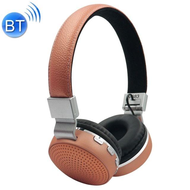 Wewoo Casque Bluetooth 42 Sans Fil V683 Avec Micro Fm Carte Tf