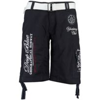a707b52ee25ee Geographical Norway - bermuda homme Pallancre - bleu marine - style yachting  club