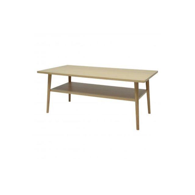 Declikdeco Table Basse Bois Chêne Arnaldo