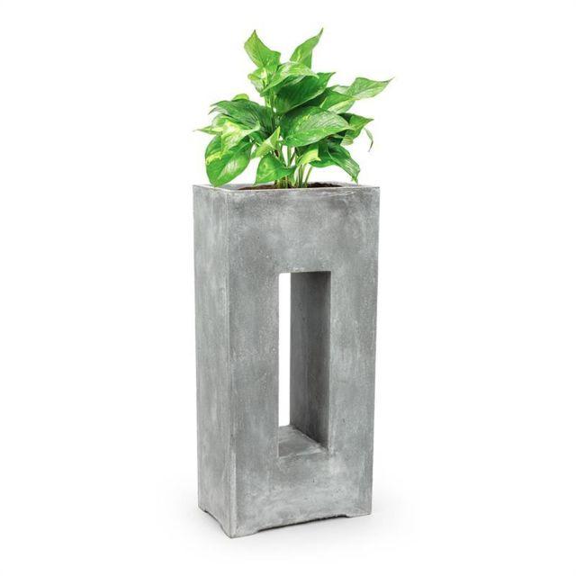 BLUMFELDT Airflor Bac à plantes 45 x 100 x 27 cm Fibre de verre - gris clair