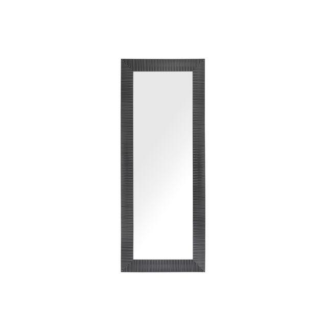 BELIANI Miroir mural noir 50 x 130 cm DRAVEIL - blanc