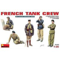Mini Art - Figurines 2ème Guerre Mondiale : Equipage de char français 1940