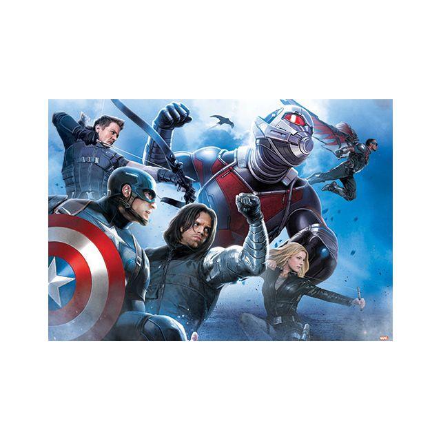 Bebe Gavroche Papier Peint Marvel Capitaine America 1525 X 104