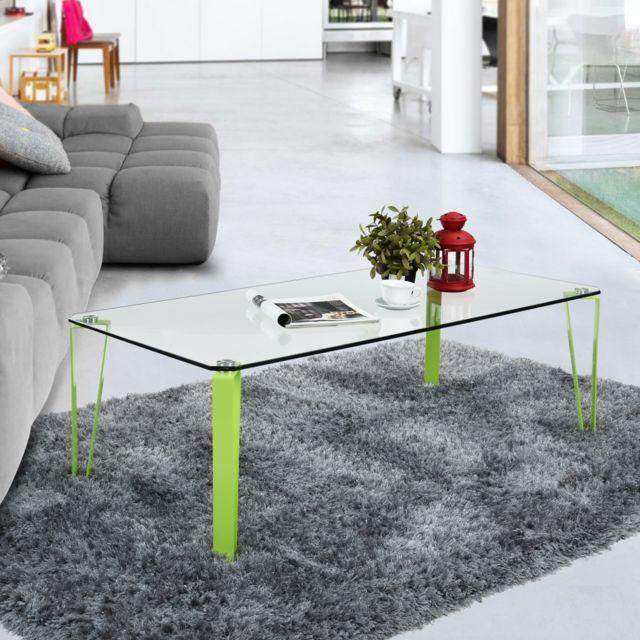 Ego Design Table basse en verre Percy vert