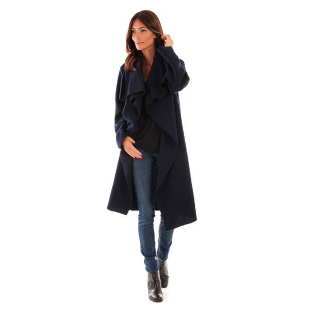 8ad70dfac0 Doucel - Le Comptoir du Manteau Manteau Col Revers En Laine Femme Taille  Femme - 36