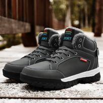 Chaussures Hautes bottes de neige extérieures antidérapantes imperméables pour hommes Couleur: Gris Taille: 44