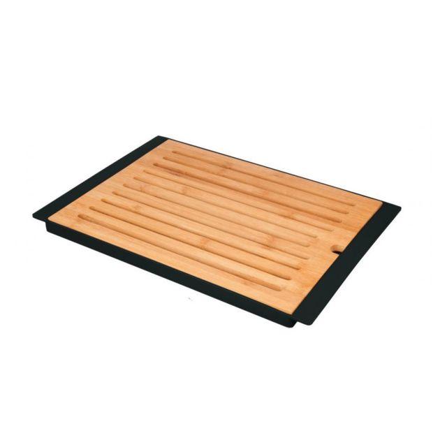 Jja Planche à pain en bambou + Plateau Noir