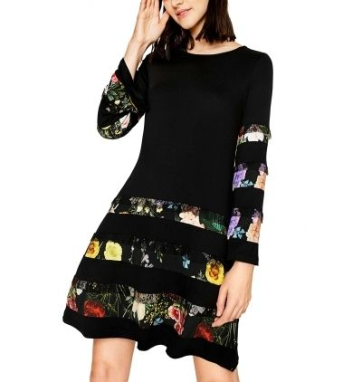 Desigual Robe Flare Sleeve Nc Pas Cher Achat Vente Robes Rueducommerce