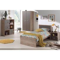 comforium ensemble complet 4 pices pour chambre moderne avec lit 90x200 cm chevet armoire