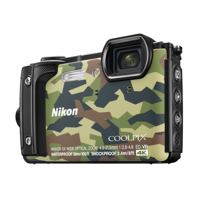 nikon appareil photo compact tanche camouflage w300 pas. Black Bedroom Furniture Sets. Home Design Ideas