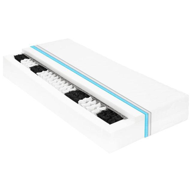 Moderne Lits & accessoires serie Bridgetown Matelas 140 x 200 cm 7 zones Ressort ensaché 20 cm H2