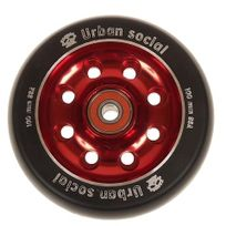 Urban - Roue de trottinette Metal disc + abec9 rouge Rouge 83919