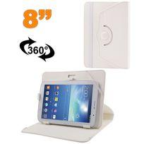 Yonis - Housse universelle tablette tactile 8 pouces support 360° Blanc