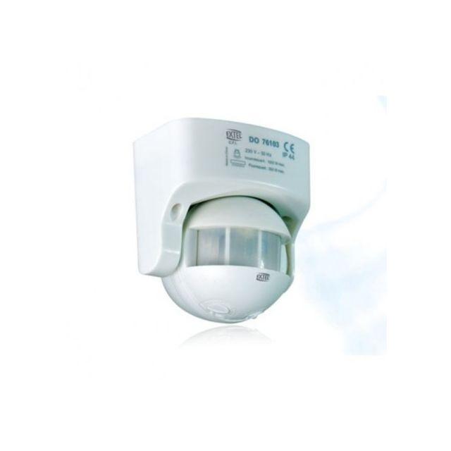 extel detecteur de mouvement 180 avec cde exterieure et rotule pour lampe fluo ou eclairage. Black Bedroom Furniture Sets. Home Design Ideas