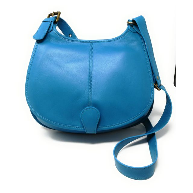 cb3f7d7bea756 Oh My Bag - Sac à main besace cuir lisse style cartouchière ...