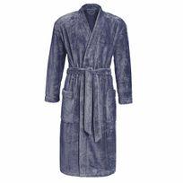 Ringella - Peignoir de bain en microfibres velours absorbantes bleu acier