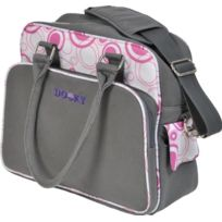Dooky - 126570 - Sac À Langer - Ronds Rose/GRIS - Toile Polyester