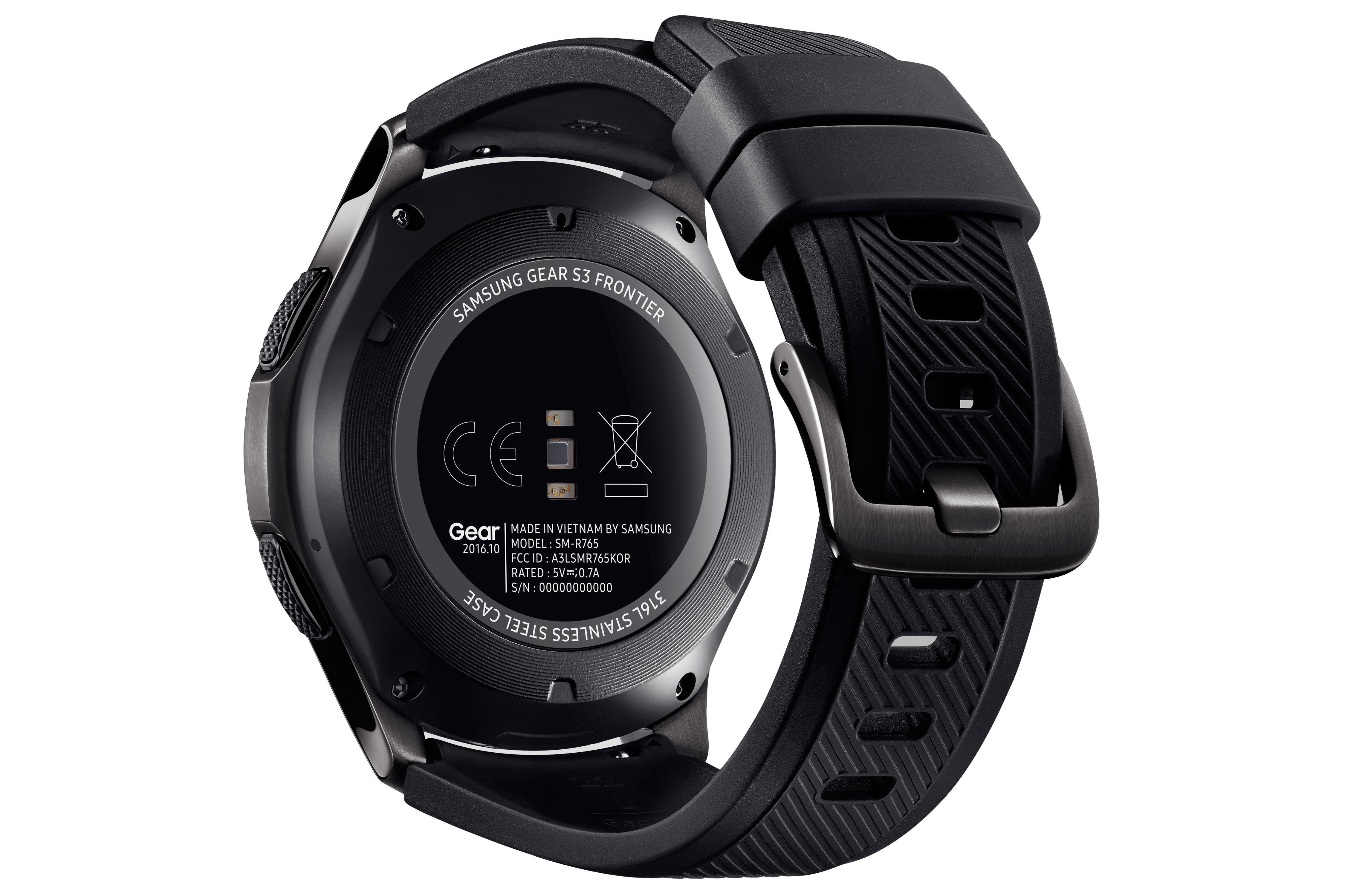 Gear S3 Frontier - Noir/Noir