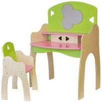 Jb Bois - coiffeuse + chaise, en bois