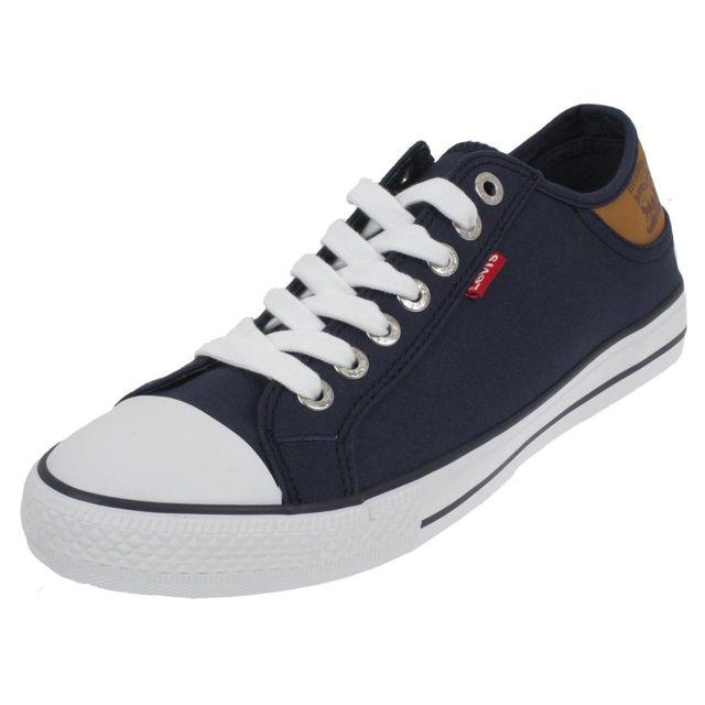 45844cb81f9 Levi s - Chaussures basses toile Levis Stan buck navy toile h Bleu 76905 - pas  cher Achat   Vente Baskets homme - RueDuCommerce