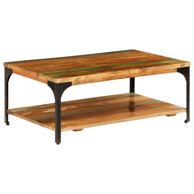 Vidaxl Table Basse et Etagère Tabouret Table de Canapé Table d'Appoint Salon
