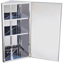 miroir rangement toilette salle de bain meuble mural dangle acier inoxydable plus que 3 articles - Miroir D Angle Pour Salle De Bain