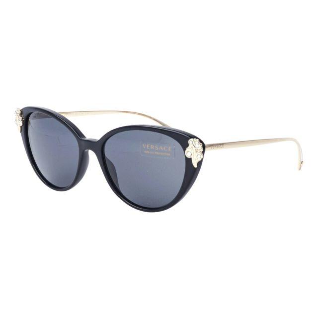 Authentique Versace 0VE 4361 GB1//87 Noir Lunettes