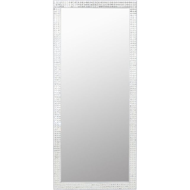 Karedesign Miroir Crystals blanc 180x80cm Kare Design