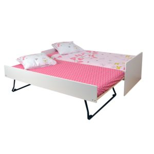 alin a tom lit gigogne blanc 90x200cm pas cher achat vente lit enfant. Black Bedroom Furniture Sets. Home Design Ideas