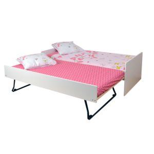alin a tom lit gigogne blanc 90x200cm. Black Bedroom Furniture Sets. Home Design Ideas