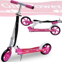 Rocambolesk - Superbe Trottinette pliable design Girl Power roues Xxl avec sangle incluse Neuf
