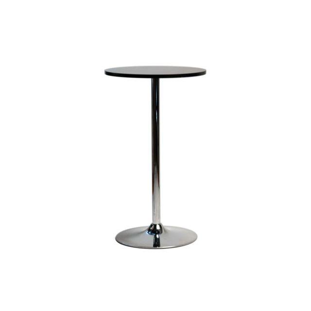Miliboo Table de bar design ronde noir James