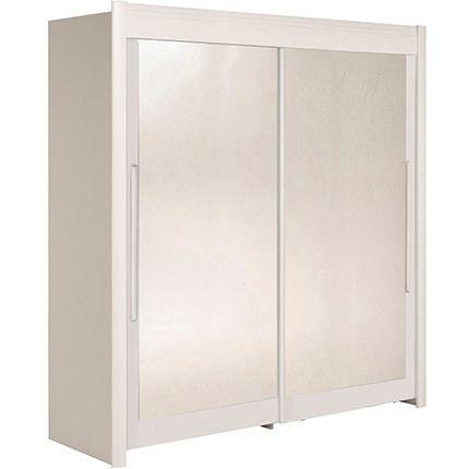 Armoire 202x207x61cm avec portes coulissantes - blanc