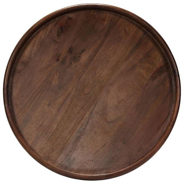 ICAVERNE Bouts de canapé selection Ensemble de tables 3 pcs Bois de manguier massif et acier