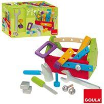 Goula - Boîte à outils garnie en bois