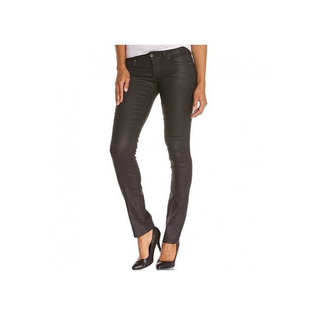 70e37ecd837a Pepe Jeans - New Brooke Femme Jean Slim Enduit Noir - pas cher Achat ...