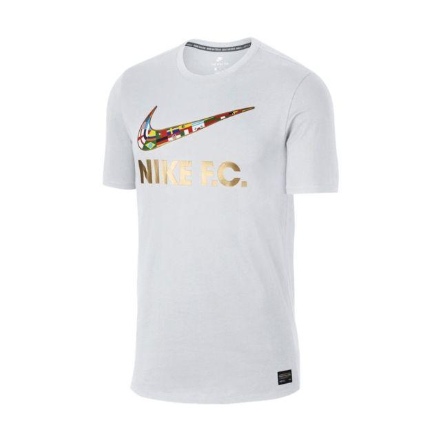 29cf530973d51 Nike - Tee-shirt Fc Swoosh Flag - 911400-101 Blanc - pas cher Achat ...