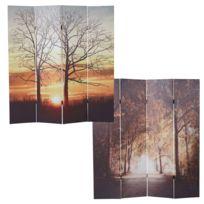 Mendler - Paravent avec motifs T234, paroi de séparation, 180x160cm ~ arbres