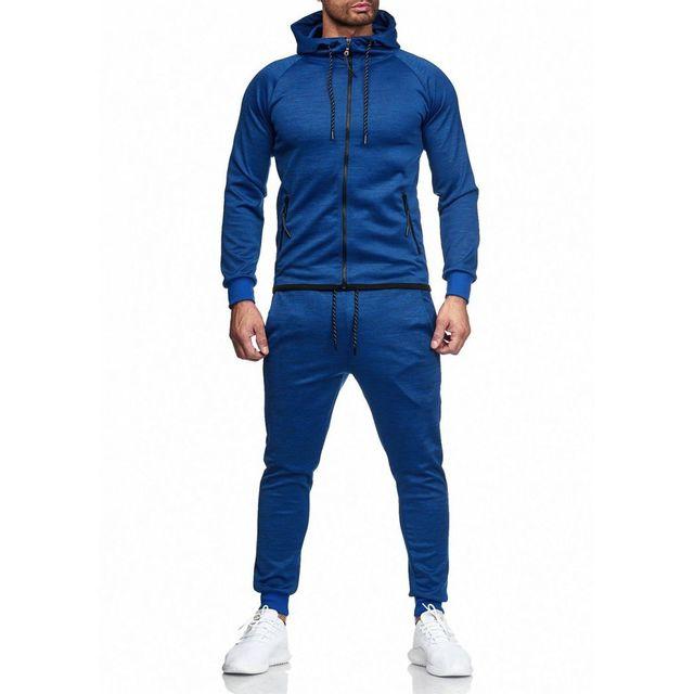 Violento Ensemble jogging léger bleu homme pas cher