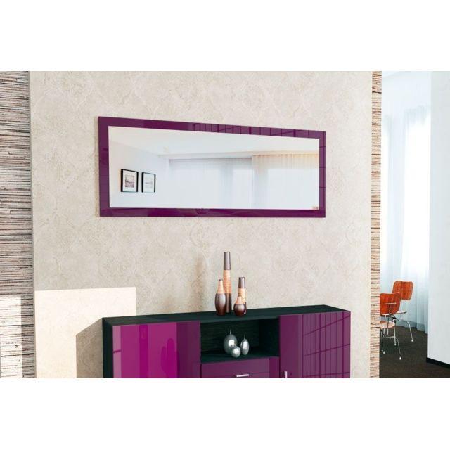 Mpc Miroir laqué Violet 139 cm