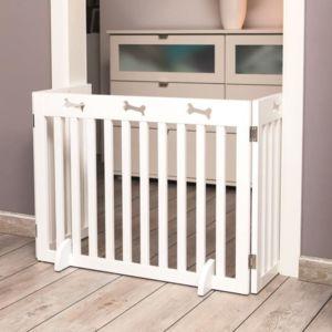 trixie barriere de s curit 3 pieces 82 124x61 cm blanc pour chien pas cher achat. Black Bedroom Furniture Sets. Home Design Ideas