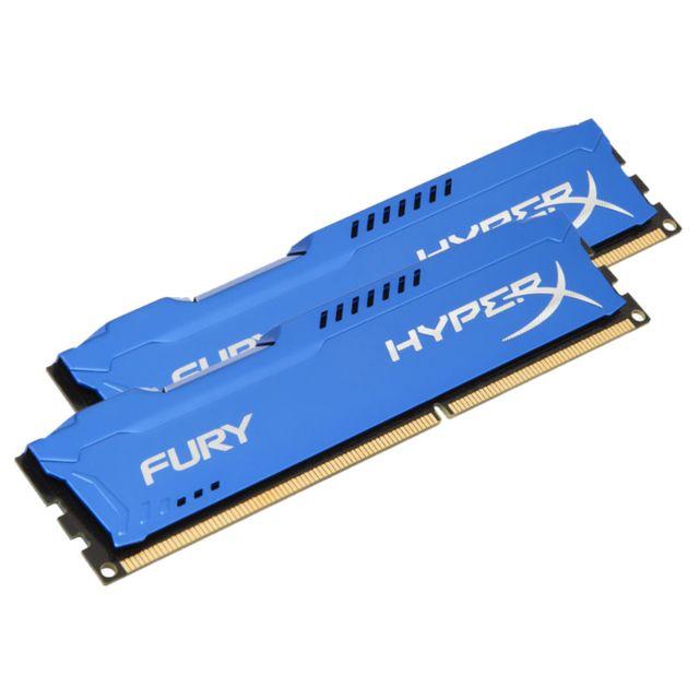 HYPERX Mémoire kit de 2 barrettes kingston DDR3 PC3-10666 - 2 x 8 Go 16 Go, 1333 MHZ - CAS 9 - Fury Series Surcadençage automatique – jusqu'à 1333 MHz - Dissipateur thermique asymétrique : évacuez la chaleur avec classe et efficacité - Compatible avec les