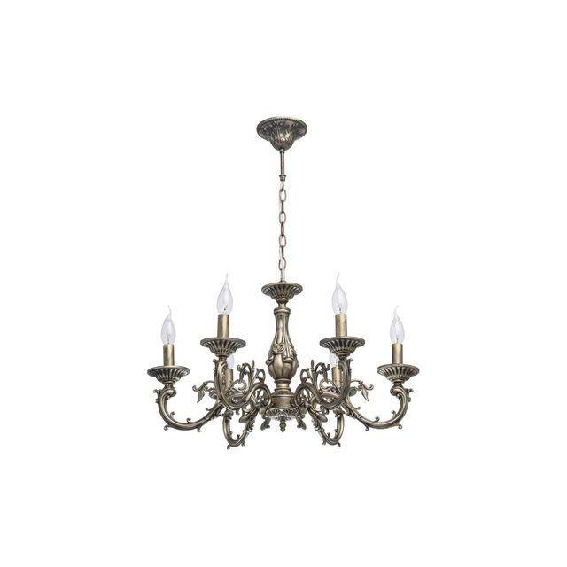 boutica design lustre classic laiton 6x60w 371011106 mw light 371011106 pas cher achat. Black Bedroom Furniture Sets. Home Design Ideas
